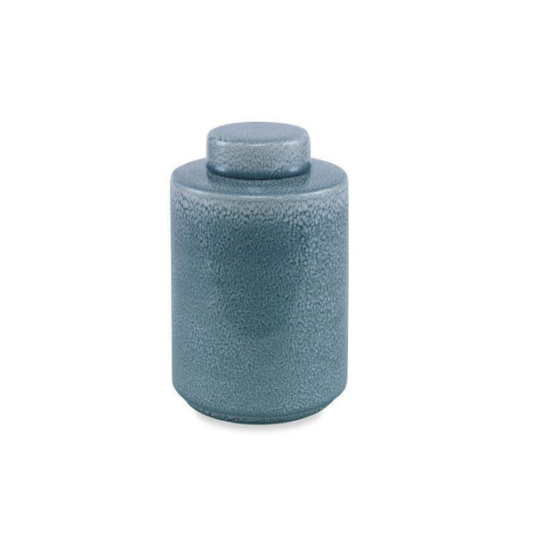 Hiller Lidded Jar Medium Seafoam