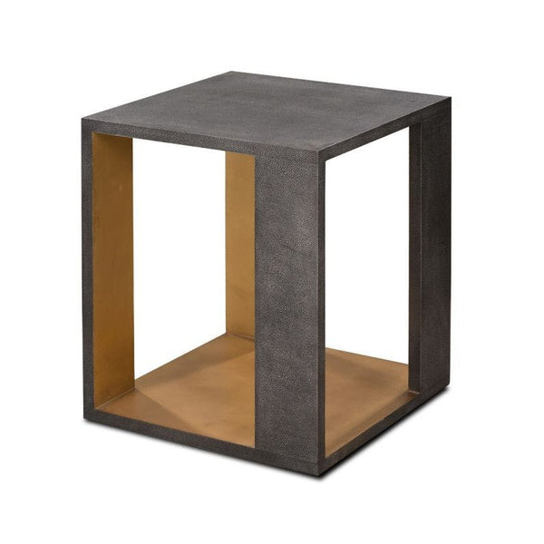 Alden Side Table Dark Gray Gold