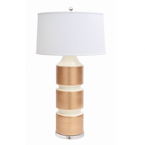 Milan Table Lamp Ivory Gold
