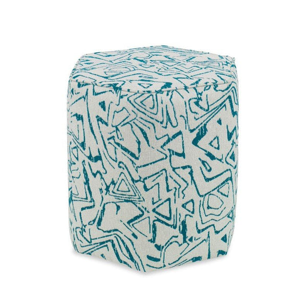 Sorel Ottoman Teal Natural