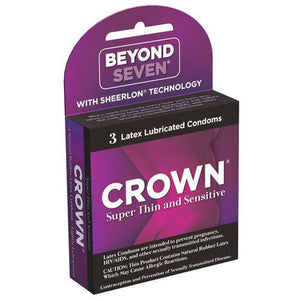 Crown Lubricated Condoms - Box of 3