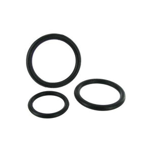 Black Triple Silicone Cock Ring Set