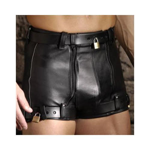 Strict Leather Chastity Shorts- 34 inch waist