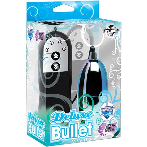Deluxe Bullet Waterproof Vibe - Mutli-speed Blue