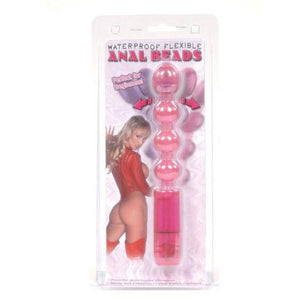Flexible Anal Bead Vibe Waterproof - Pink