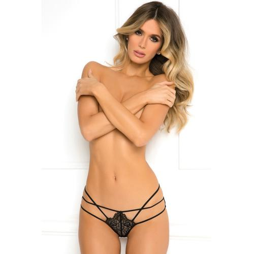 Rene Rofe Batting Eyelashes Buttless Bikini Black S/M