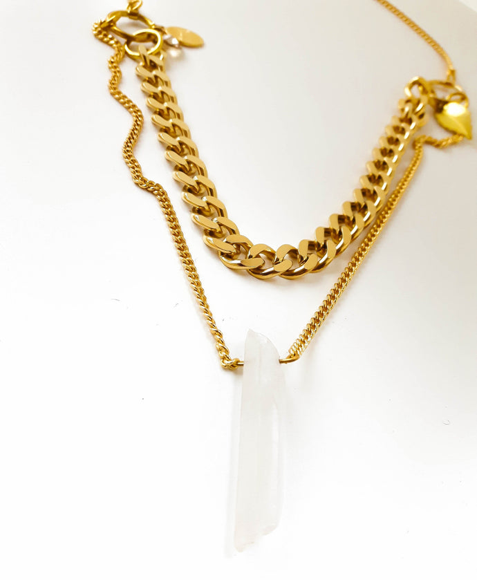 G- Quartz Crystal Necklace
