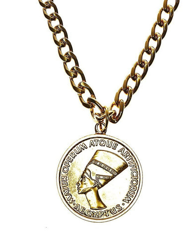 Nefertiti Coin Necklace