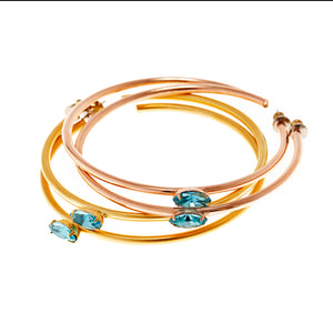 Azura Crystal  Hoops