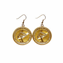 Load image into Gallery viewer, Nefertiti Coin Earrings
