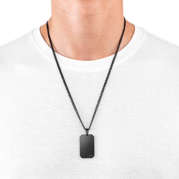 SAGE - Dog Tag Black Stainless Steel Pendant