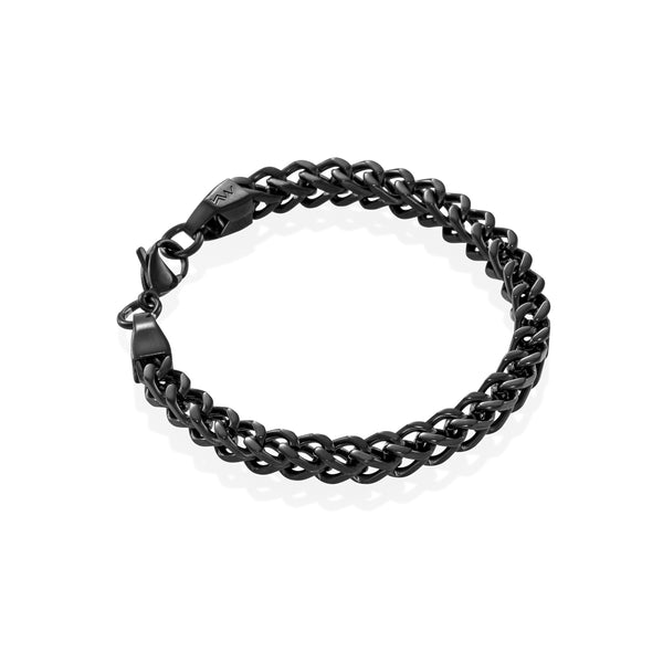 CREST - Ultra-clean Franco Black Bracelet