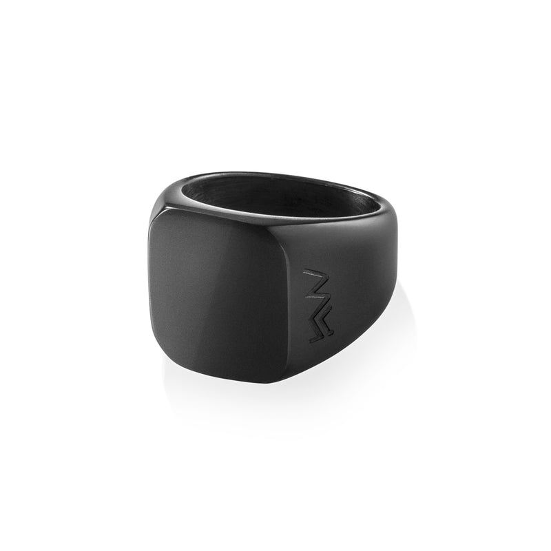 DUCO - classic signet Black Stainless Steel Ring