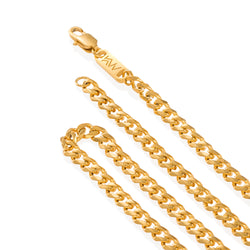 NOX - Miami Stainless Steel Gold Chain