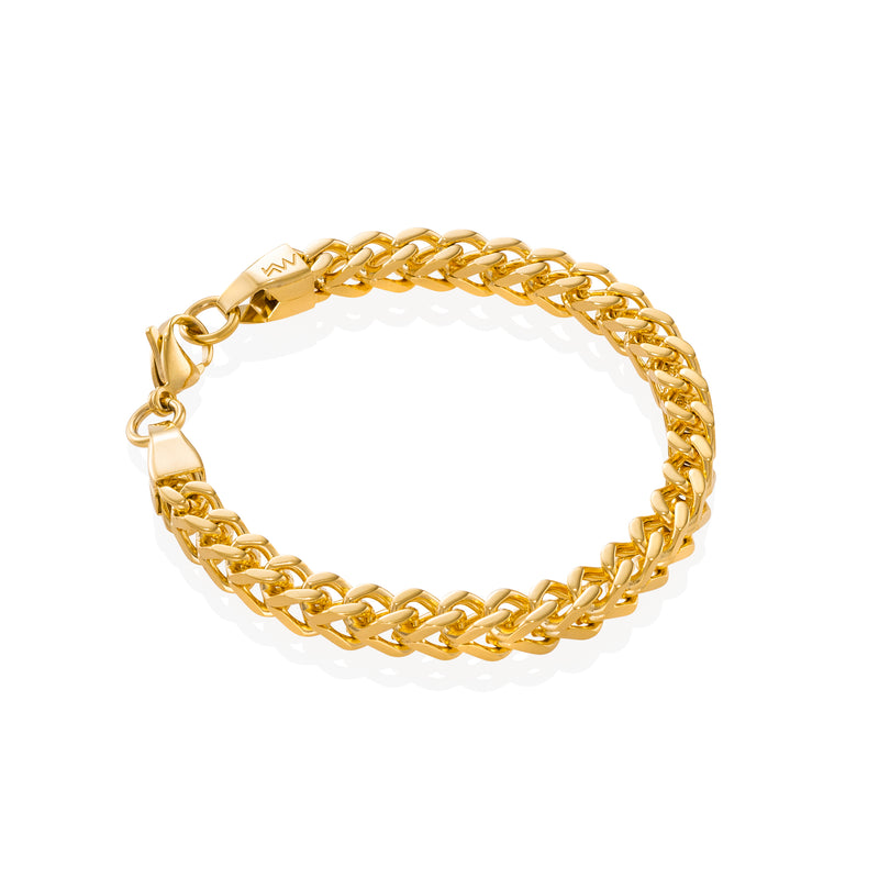 CREST - Ultra-clean Franco Gold Bracelet