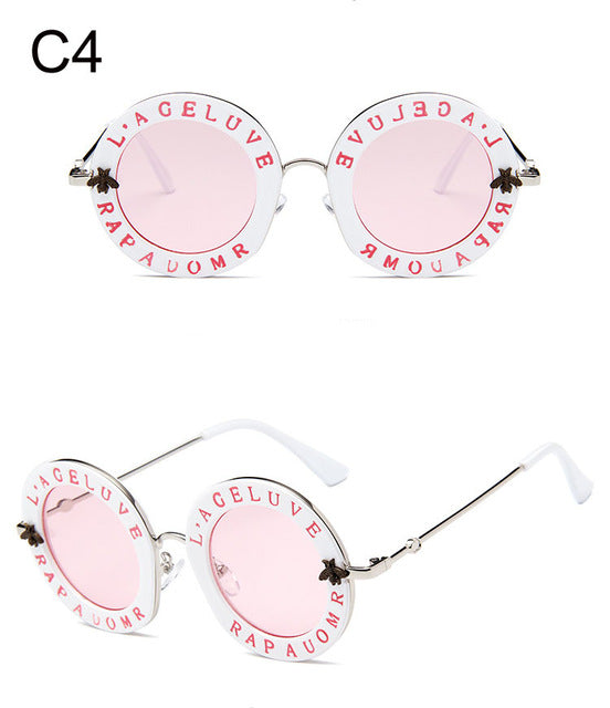 88d3e823b2 ... Vintage Round English Letters Sunglasses - beachbabe101 ...