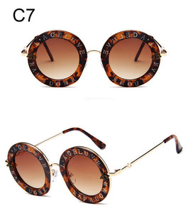 e0fee688c9 Vintage Round English Letters Sunglasses - beachbabe101