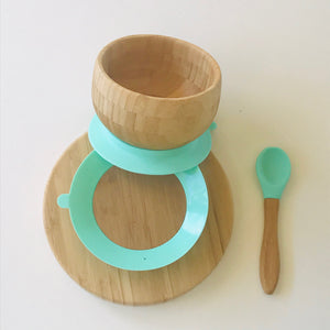 bamboo-suction-feeding-plate-bowl-spoon-set-australia