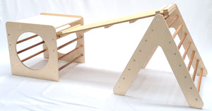 Wooden Climbing Cube, Pickler and slide package