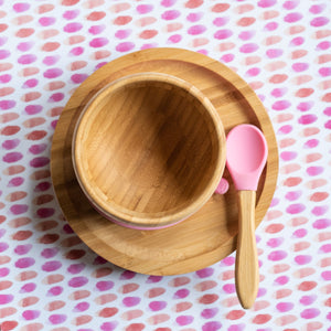Suction Bamboo  Kids Bowl And Plate| The Boo Collective