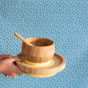 The- Boo- Collective- Bamboo -Suction- Plate- Bowl- Spoon