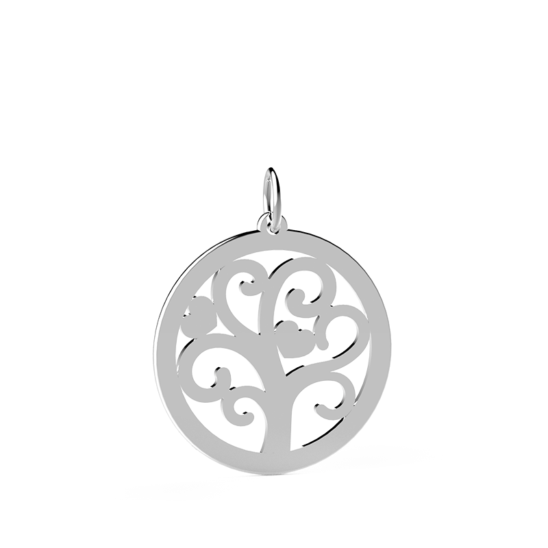 Tree of Life - Ciondolo Tondo Argento 925
