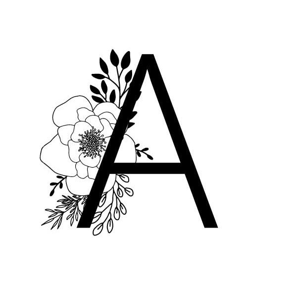 A to Z Floral Letter Print - Digital Download