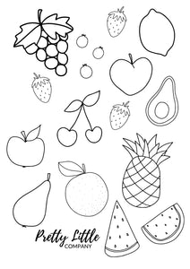 Cute Fruit Colouring Pages - Free Download