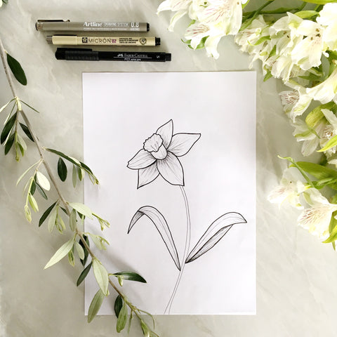 Daffodil Flower Print - Digital Download