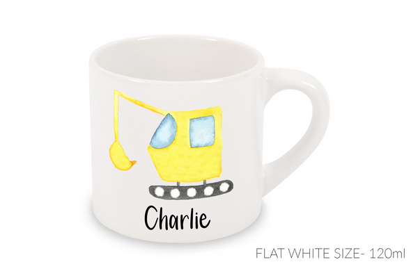 Flat White Mug 120ml - Digger