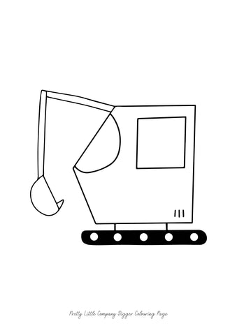 Digger Colouring Page - Free Download