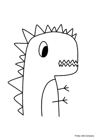 Dinosaur Colouring Page - Free Download