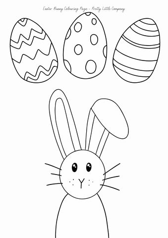 Easter Bunny Colouring Page - Free Download