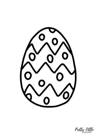 Easter Egg Colouring Page - Free Download