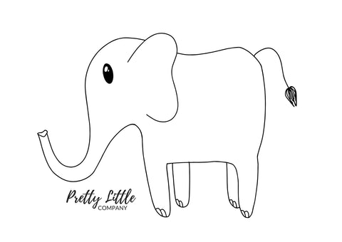 Elephant Colouring Page - Free Download