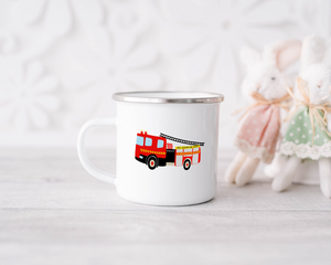 Enamel Mug - Fire Engine
