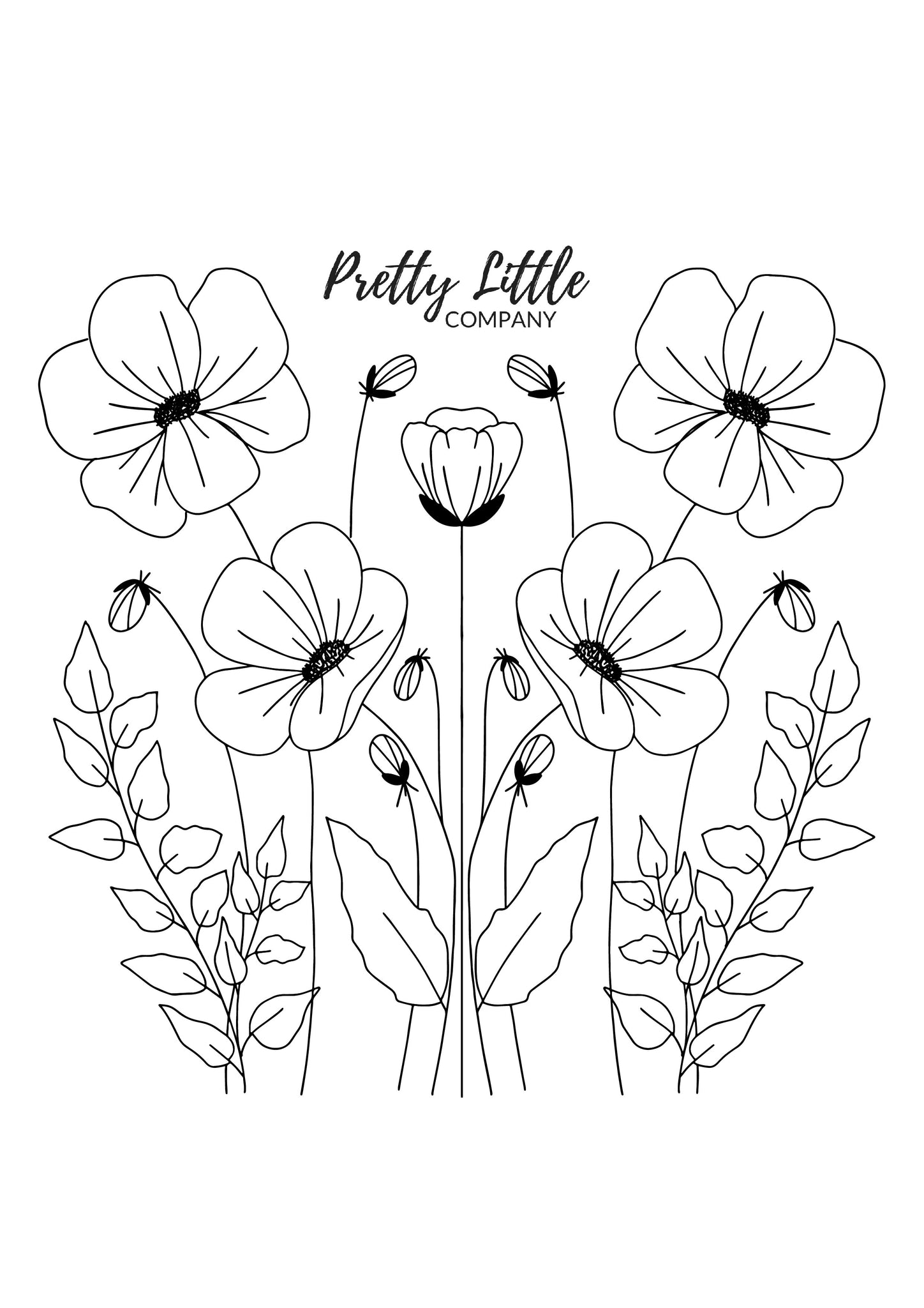 Poppy Colouring Page - Free Download