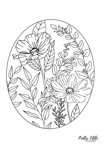 Floral Colouring Page - Free Download