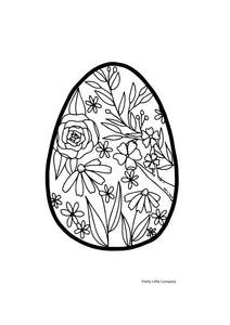 Floral Easter Egg Colouring Page 2 - Free Download