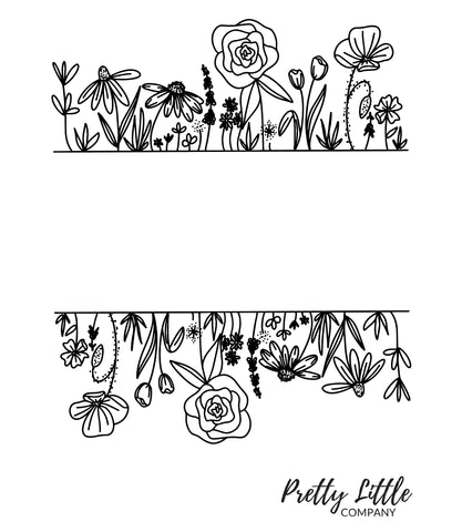 Flowers Colouring Page - Free Download