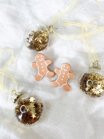 Gingerbread Men - Christmas Earrings