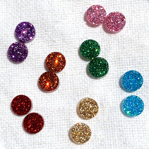 Glitter Earrings - Clip on and Pierced