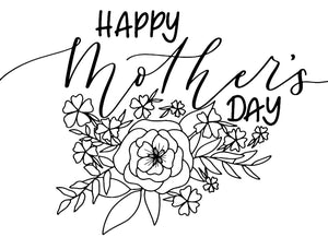 Mother's Day Colouring Card - Free Download