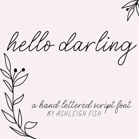 Hello Darling - Font Digital Download