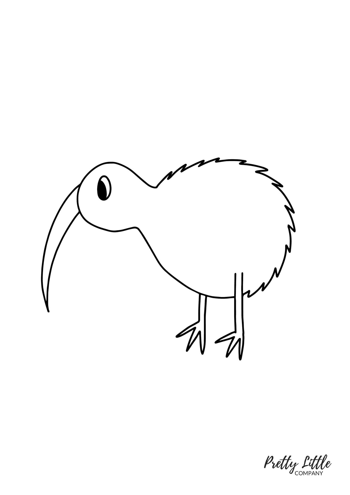 Kiwi Colouring Page - Free Download