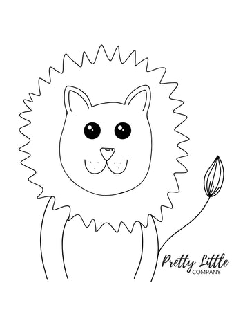 Lion Colouring Page - Free Download