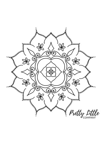 Mandala Colouring Page - Free Download