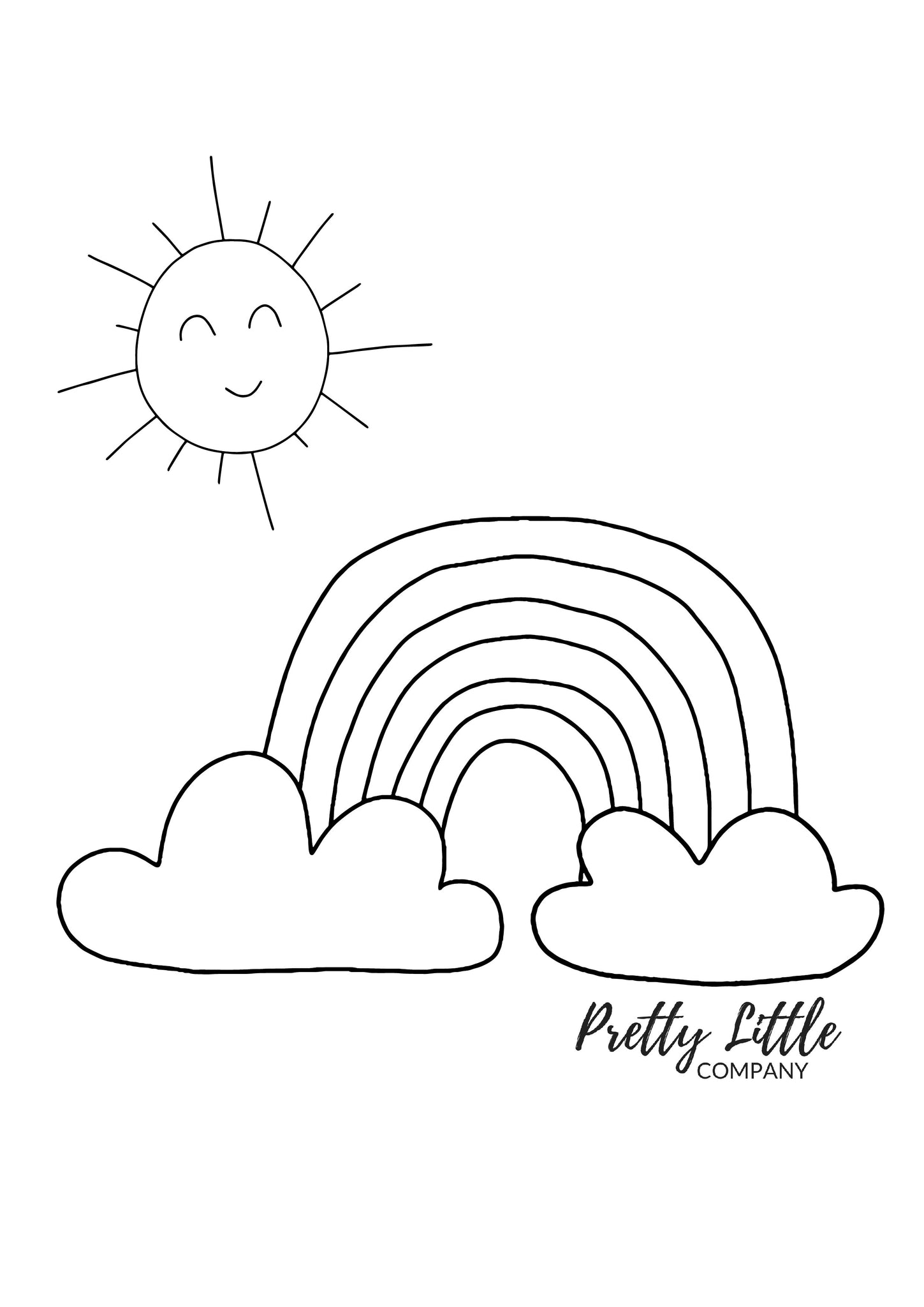 Rainbow Colouring Page - Free Download