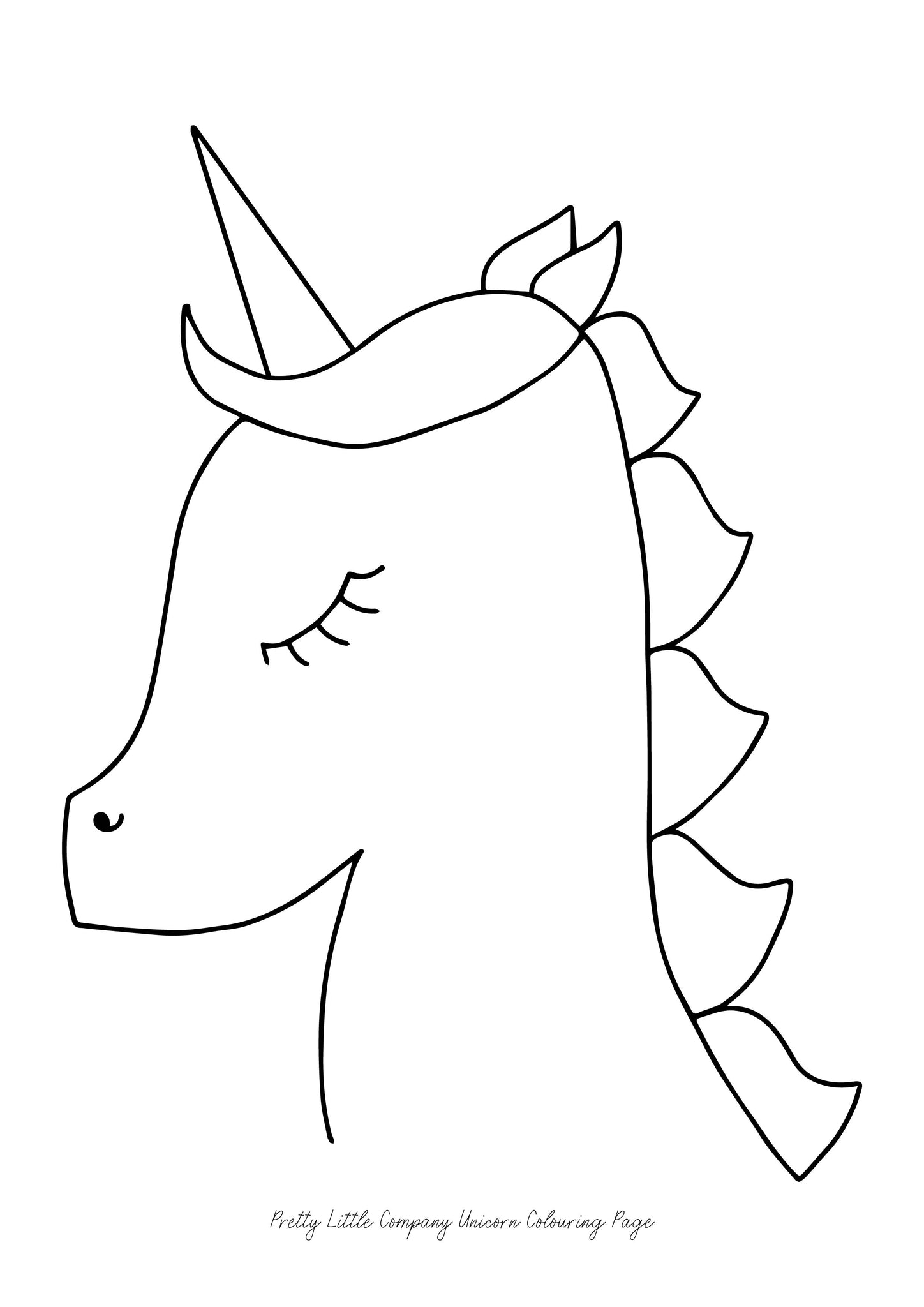 Unicorn Colouring Page - Free Download