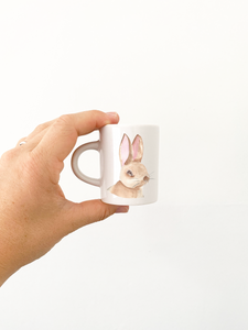 Fluffy Cup 70ml- Bunny in Watercolour